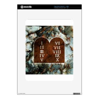 Ten Commandments Decal For The iPad