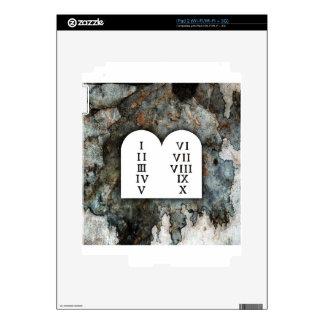 Ten Commandments Decals For iPad 2