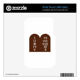 Ten Commandments iPod Touch 4G Decal