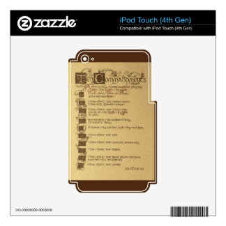 ten commandments iPod touch 4G skins