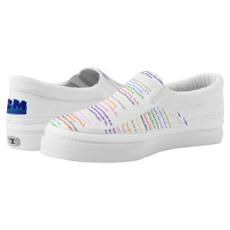 Ten Commandments Judaeo-Christian Slip Ons Printed Shoes