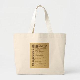 ten commandments large tote bag