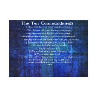 Ten Commandments listed  in order print