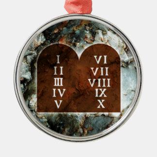 Ten Commandments Metal Ornament