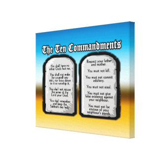 Ten Commandments of the Holy Bible, God's Law Canvas Print