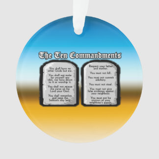 Ten Commandments of the Holy Bible, God's Law Ornament