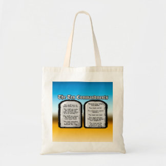 Ten Commandments of the Holy Bible, God's Law Tote Bag