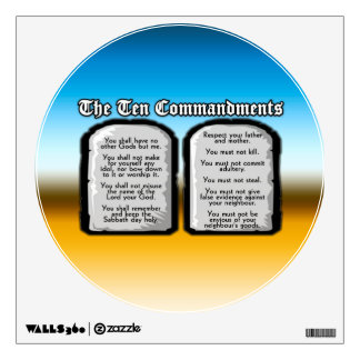 Ten Commandments of the Holy Bible, God's Law Wall Sticker