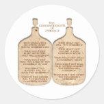 Ten Commandments of Zymurgy Classic Round Sticker