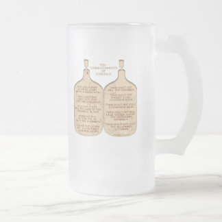 Ten Commandments of Zymurgy Frosted Glass Beer Mug