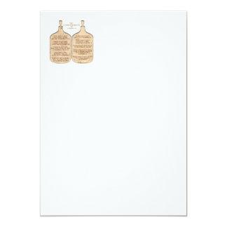 "Ten Commandments of Zymurgy 5"" X 7"" Invitation Card"