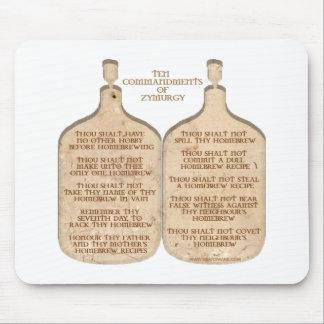 Ten Commandments of Zymurgy Mouse Pad