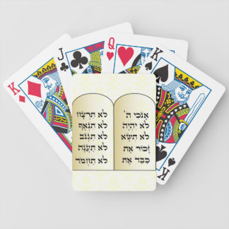 Ten commandments playing cards