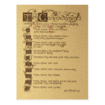 ten commandments postcard