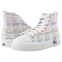 Ten Commandments Religious Hi-Top Printed Shoes
