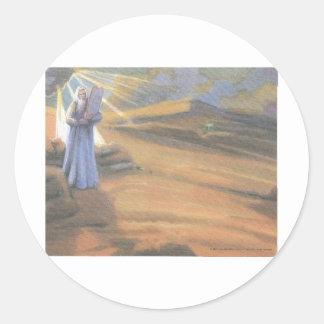 Ten Commandments Round Sticker