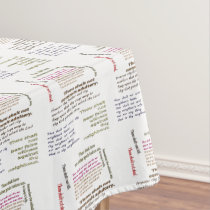 Ten Commandments Tablecloth