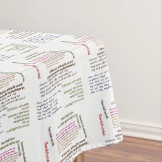 Ten Commandments Tablecloth