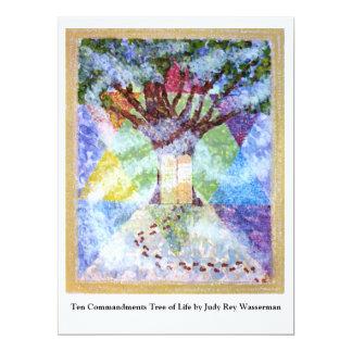 Ten Commandments Tree of Life - Judy Rey Wasserman 6.5x8.75 Paper Invitation Card