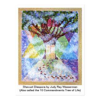 Ten Commandments Tree Postcard