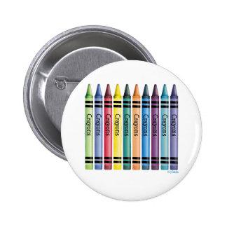 Ten Crayons 2 Inch Round Button