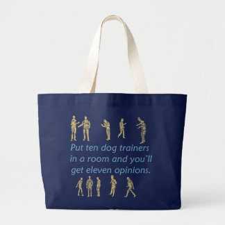 Ten Dog Trainers Large Tote Bag