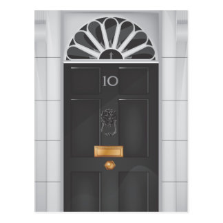 Ten Downing Street Door Postcards
