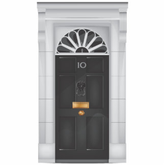 Ten Downing Street Door Statuette