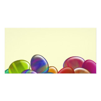 Ten Easter Eggs Rainbow Card