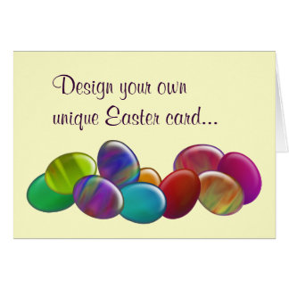 Ten Easter Eggs Rainbow Greeting Cards