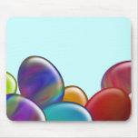 Ten Easter Eggs Rainbow Mousepad