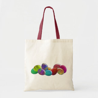 Ten Easter Eggs Rainbow Tote Bag