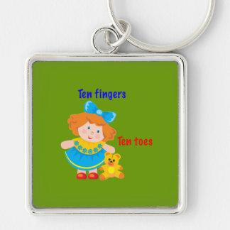 Ten fingers, ten toes key chain