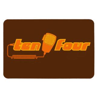 Ten-Four Retro CB Radio Magnet (dark)