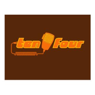 Ten-Four Retro CB Radio Postcard (dark)