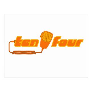 Ten-Four Retro CB Radio Postcard (light)