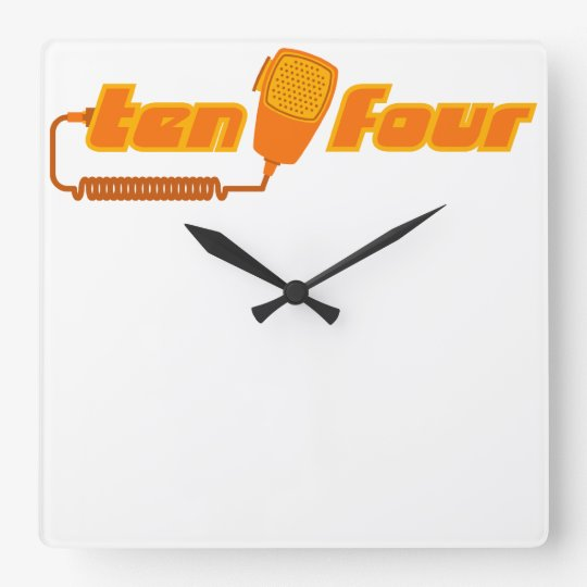 Ten-Four Retro CB Radio Wall Clock (light)
