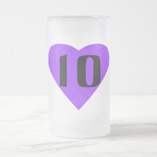 Ten Frosted Glass Beer Mug