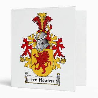 ten Houten Family Crest 3 Ring Binder