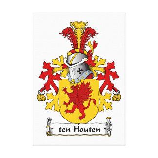 ten Houten Family Crest Canvas Print