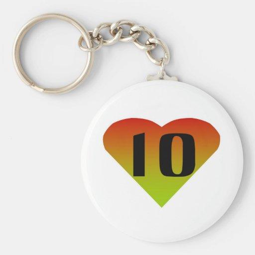 Ten Key Chain