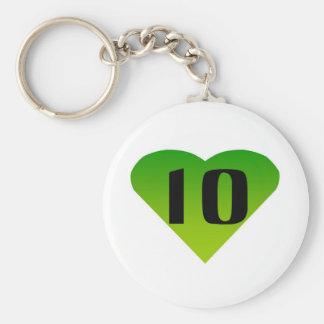 Ten Keychain