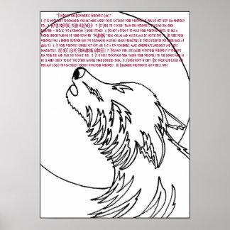 ~Ten las reglas para el hombre lobo responsable Ca Póster