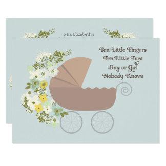 Ten Little Fingers Baby Shower Card