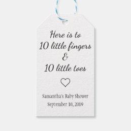 Ten Little Fingers Ten Little Toes Baby Shower Gift Tags
