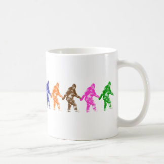 TEN LITTLE SQUATCHES - Colorful Bigfoot Logo Coffee Mug