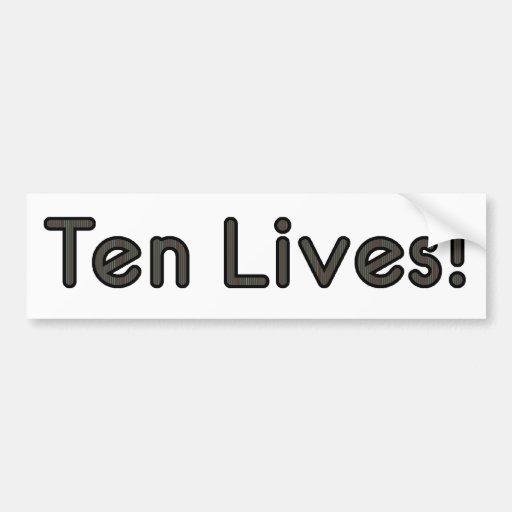 Ten Lives! Car Bumper Sticker