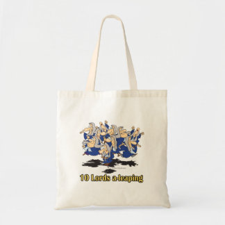 ten lords a-leaping 10th tenth day of christmas bag