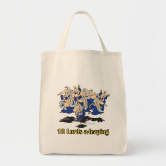 ten lords a-leaping 10th tenth day of christmas bags