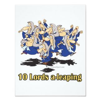 ten lords a-leaping 10th tenth day of christmas card